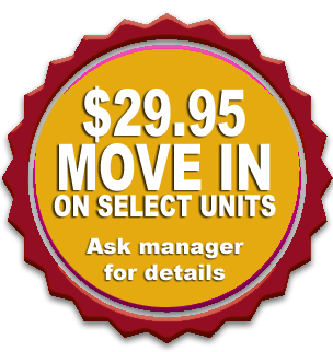 $29.95 Move in on select units